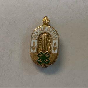 Accessories - Vintage 10k G.F. 4H Club Recreation Lapel Pin